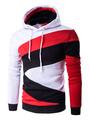Men's Pullover Hoodie Color Block Long Sleeve Cotton Hoodies 4292