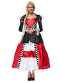 Halloween Costume Alice In Wonderland The Queen Of Spades Cosplay Women's Color Block Dress 4292