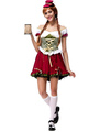 Beer Girl Costume Halloween Women's Ruffled Lace Dress With Headband Halloween 4292