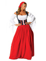 Halloween Sexy Costume Beer Girl Women's Color Block Open Shoulder Maxi Dress With Headgear Halloween 4292
