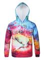 Printed Pullover Hoodie Men's Colorful Long Sleeve Casual Hoodie 4292