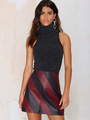 Turtleneck Top Sweater Women's Sleeveless Slim Fit Knit Tanks 4292