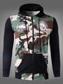 Men's Cotton Hoodie Camo Skull Print Zip Up Long Sleeve Hooded Jacket With Pocket 4292