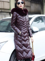 Faux Fur Coat Hooded Women's Solid Color Button Pockets Wadded Overcoat 4292