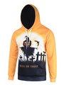 Men's Cotton Hoodie Yellow Long Sleeve Pumpkin Halloween Hoodie 4292