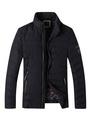 Black Quilted Jacket Men's Zip Up Puffer Winter Coat 4292