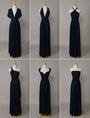 Convertible Evening Dress Navy Blue(Convertible Infinity Dress,navy blue long bridesmaid dress ) 4292
