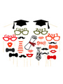 Graduation Photo Props Multicolor Academic Party Photo Booth Props 4292