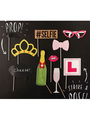 Photo Booth Props Multicolor Paper Selfie Party Photo Props 4292