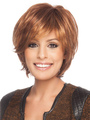 Human Hair Wigs Women's Brown Fluffy Straight Short Wigs 4292