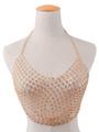 Gold Body Chain Bra Halter Sexy Women's Body Harness Jewelry 4292