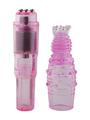 Anal Massager Rocket Ticklers Crystal G Spot Stimulation With Removable Tickler 4292