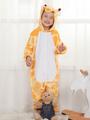 Giraffe Onesie Kigurumi Kids Unisex Yellow Easy Toilet Jumpsuit Halloween 4292
