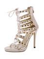 Women Gladiator Sandals Apricot Open Toe Lace Up Ankle Strap Sandal Shoes High Heel Sandals 4292
