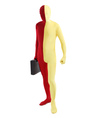 Halloween Red Yellow Lycra Spandex Full Body Zentai Suit 4292