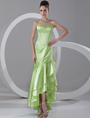 Sweetheart Evening Dress Neon Green Sequin Strapless Mermaid Prom Dress High Low Ruffle Tiered Formal Dress 4292