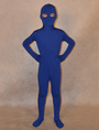 Halloween Deep Blue Unisex Lycra Spandex Unicolor Kid's Zentai Suits 4292