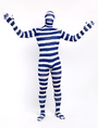 Halloween Fashion Lycra Spandex Stripe Full Body Unisex Stylish Multicolor Zentai Suits 4292