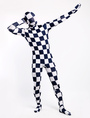 Halloween Plaid Zentai Suit Lycra Spandex Full Body Unisex Costume Cosplay 4292