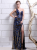 Royal Blue One-Shoulder Sequin Sheath Sequined Evening Dress  Milanoo 4292