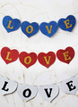 Love Print Pearl Paper Wedding Decorations 4292
