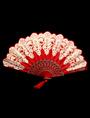 Lace Bamboo Folding Fan Teen Girl's Wedding Favors 4292
