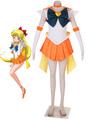 Sailor Moon Sailor Venus Halloween Cosplay Costume Aino Minako 4292