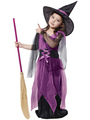 Purple Halloween Witch Costumes 4292