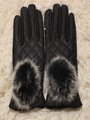 Sweet Fur Warm Leather Gloves For Woman 4292