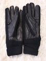 Black Woman's Knit Wrist Gloves 4292