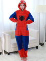 Kigurumi Pajamas Superhero Onesie Spiderman Womens Flannel Cosplay Costume 4292