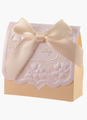 Nude Bow Specialty Paper Box Favor for Wedding Set of 12 4292