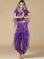 Belly Dance Costume Purple 3 Piece Chiffon Bollywood Dance Dress for Women 4292