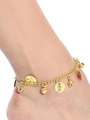 Belly Dance Costume Gold Synthetic Bells Bollywood Dance Ankles for Women 4292
