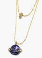 Gold Tiered Geometric Alloy Necklace for Women 4292