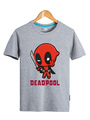 Halloween Gray Deadpool Cotton Tee 4292
