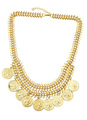 Gold Layered Alloy Necklace for Women 4292
