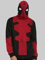 Halloween Color Block Cotton Deadpool Hoodie 4292