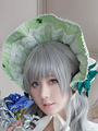 Light Green Printed Lace Synthetic Lolita Headdress 4292