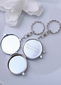Round Makeup Mirror Keychain Wedding Favor 4292