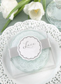 Multicolor Glass Lace Coaster Wedding Favors 4292
