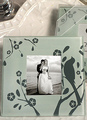 Multicolor Glass Photo Frame Coaster Wedding Favors 4292
