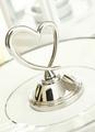 Silver Heart Metal Wedding Calling Card Clip 4292