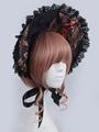 Multicolor Lolita Bonnet Print Lace Synthetic Bonnet 4292