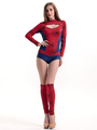 Halloween Red Spiderman Polyester Sexy Costume for Women 4292