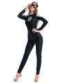 Halloween Black Spiderman PU Sexy Costume for Women 4292