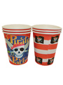 Halloween Pirate Skull Paper Cups Multicolor Party Cups 4292
