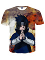 Blue Crewneck Print Short Sleeves Cotton Blend Printed Comfy Cool Men's T-Shirt  Halloween 4292