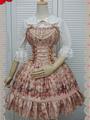 Print Lolita Dress Multicolor Beaded Synthetic Dress 4292