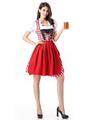 Sexy Beer Girl Costume Red Plaid Women's Beer Girl Dress Halloween 4292